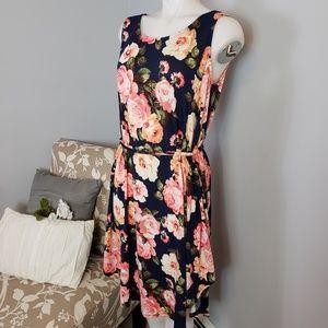 Beachcoco floral maternity dress tie waist